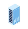 server rack isolated isometric icon vector image vector image