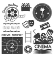 set of cinema logo labels Movie studio vector image vector image