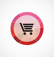 shopping cart circle pink triangle background icon vector image