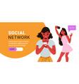social network horizontal banner vector image