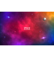 space background realistic colorful galaxy color vector image vector image