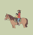 summer activities and riding concept vector image
