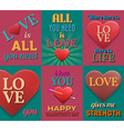 Unusual inspirational love posters Set 2 vector image