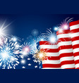 usa 4th july independence day design vector image vector image