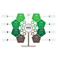 vertical timeline green infographics tree of vector image vector image