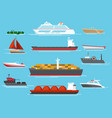 vessel icons set vector image