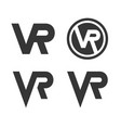 virtual reality logo icon set on white background vector image