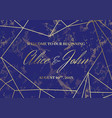 wedding welcome sign poster geometric design vector image vector image