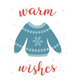 winter card with cute ugly sweater vector image