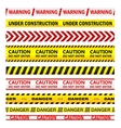 Yellow warning tapes with texts vector image vector image