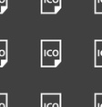 file ico icon sign Seamless pattern on a gray vector image