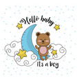 baby shower card to welcome a boy vector image