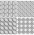 Set of monochrome geometrical patterns vector image