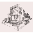 Architect draft modern new house building concept vector image