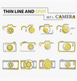 thin line flat camera icons vector image