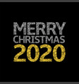 2020 broken silver and golden numbers vector image vector image