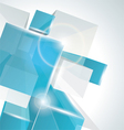 3d glass rectangles background vector image vector image