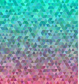 Abstract regular triangle mosaic tile background vector image vector image