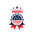 abstract round logo united states america vector image vector image