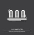 amplifier analog lamp sound tube icon glyph vector image vector image