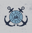 anchors label poster vector image
