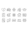 augmented reality group and target path icons set vector image vector image