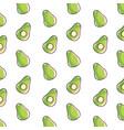 avocado vegetables background vector image