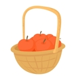 Basket with apples icon cartoon style vector image vector image