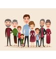 Big happy family cartoon concept vector image vector image