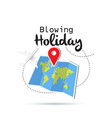 blowing holiday map location flying plane backgrou vector image