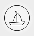 boat toy universal icon editable thin vector image vector image