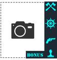 camera icon flat vector image vector image