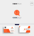 chat coding programmer logo template and business vector image