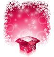 Christmas with shiny magic gift box vector image vector image