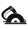 circular saw icon simple style vector image
