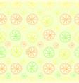 citrus lemon lime seamless pattern on green vector image