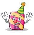 clown marshmallow character cartoon style vector image