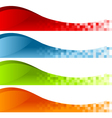 Colorful Pixel Swoosh Banners vector image