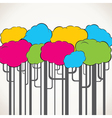 creative colorful tree background vector image vector image