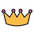 crown luxury royal monarchy icon vector image