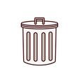 delete icon bin trash can vector image vector image