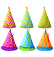 Different design of party hats vector image vector image