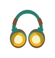 earphones audio device icon vector image