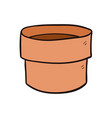 empty plant pot cartoon and vector image vector image