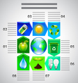 Environment inforgaphics Ecology objects vector image