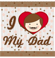 fathers day fathers background with lines vector image