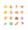 food sweets coffee shop bakery icon set fluent vector image vector image