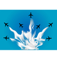 formation flying vector image vector image