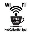 Free wifi cybercafe poster vector image vector image