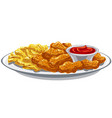 fried chicken nuggets vector image